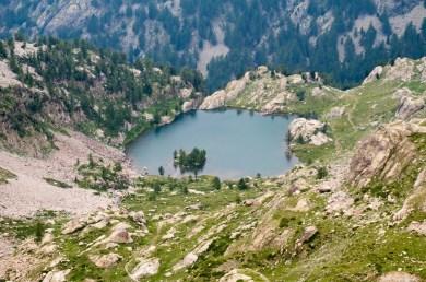 Lac de Trecolpas vu depuis le Pas de Ladres