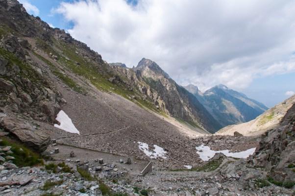 Col de Fenestre - vue sur le versant italien