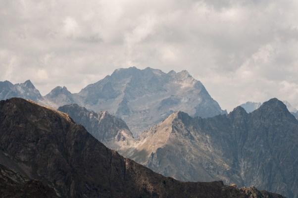 Pas de l'Agnel - Vue du Mont Argentera