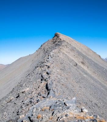 Mont Mounier - montée finale