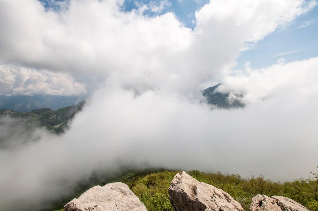 Vue sur la cime du mont Razet