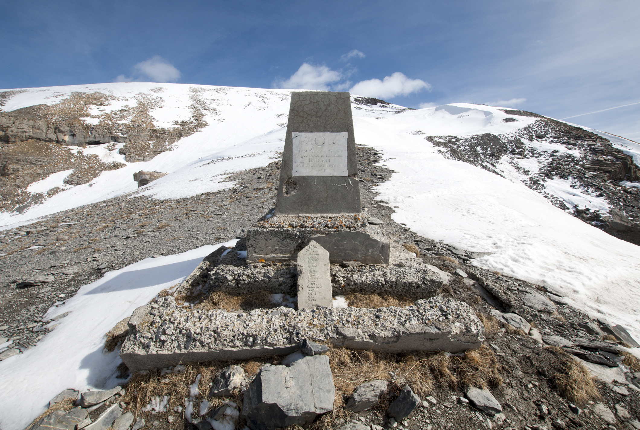 Col de Crous - Mémorial