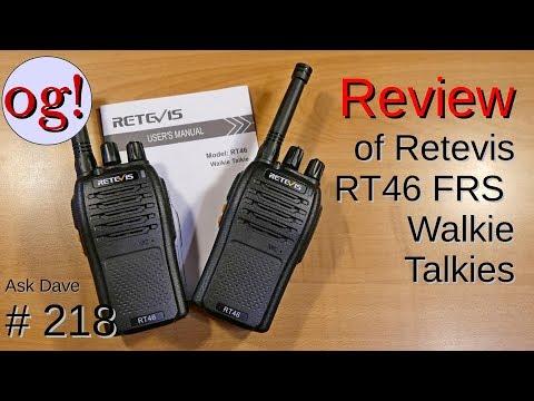 Review of Retevis RT46 FRS Walkie Talkies (#218)