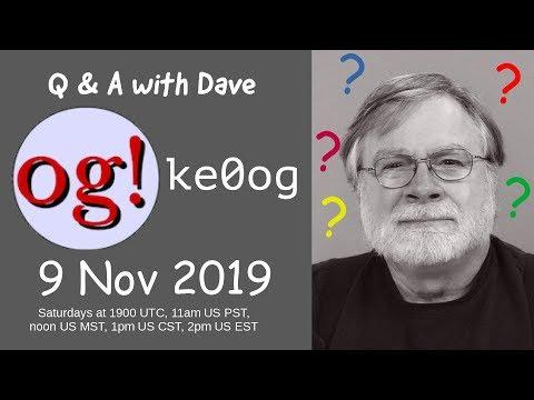 Live Q&A 9 Nov 2019