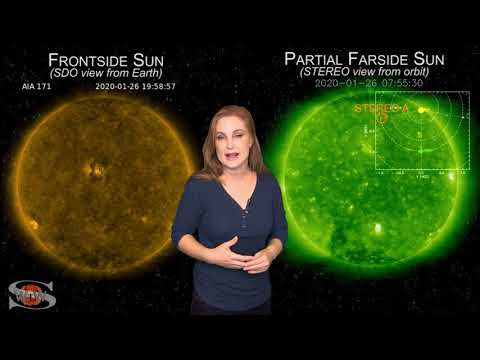 A Bright Region Pair & An Earth-Directed Solar Storm | Space Weather News 01.27.2020