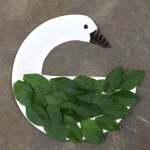 Paper plate swan nature craft