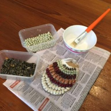 Easter-nature-craft-seed-mosaic