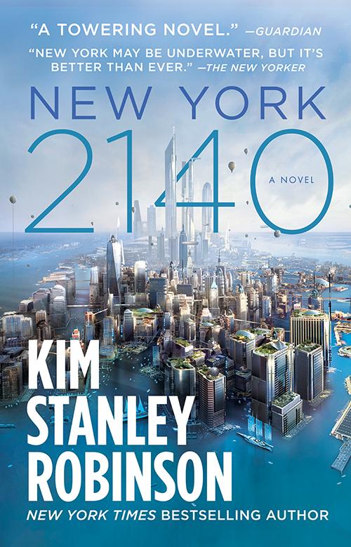 """Cover of the novel """"New York 2140."""""""