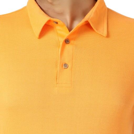Bamboo clothing Sustainable orange Polo T shirt 1