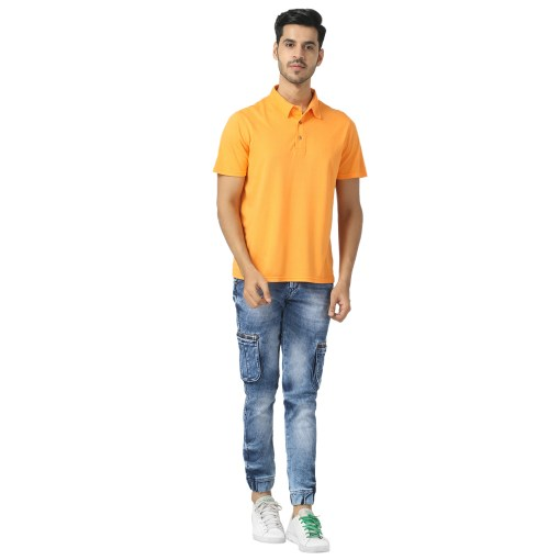 Bamboo clothing Sustainable orange Polo T shirt 3