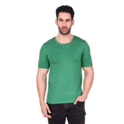 Naturefab Mens Bamboo Clothing T Shirt Green Roundneck 1
