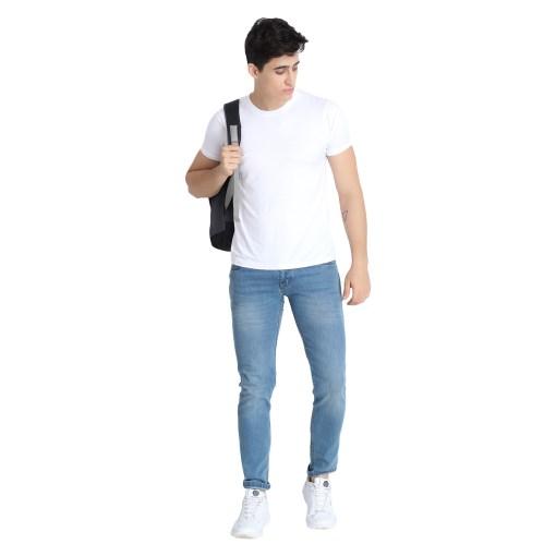 Naturefab Mens Bamboo Clothing White T Shirt Roundneck 2
