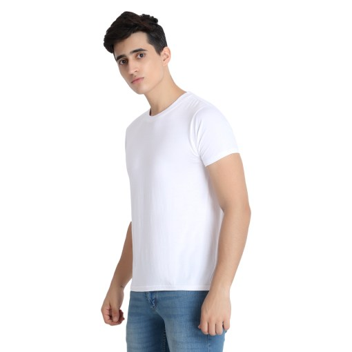 Naturefab Mens Bamboo Clothing White T Shirt Roundneck 5