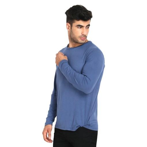 Naturefab Mens Bamboo Sun UV Protective Fabric Full sleeve T Shirt Blue 4