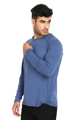 Naturefab Mens Bamboo Sun UV Protective Fabric Full sleeve T Shirt Blue 4