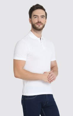 Naturefab Mens Sustainable Bamboo ClothingWhite Polo Tshirt 3