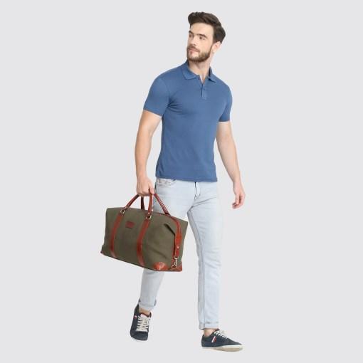 Naturefab Mens Sustainable Bamboo Fabric Polo Tshirt Blue Grey 2