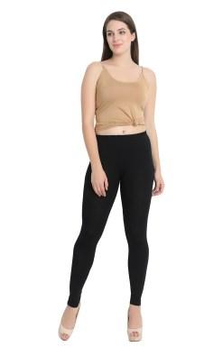 Naturefab Womens Sustainable Bamboo Clothing Leggings bLACK 1