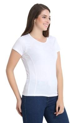 Naturefab Womens Sustainable Bamboo Clothing White T Shirt 7