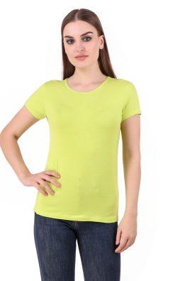 Naturefab Womens Sustainable Bamboo FabricT Shirt Lime Yellow 1