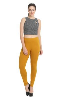 Naturefab Womens Sustainable Bamboo Fashion Leggings Mustard 8