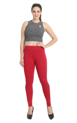 Naturefab Womens Sustainable Bamboo Fashion Leggings Red Maroon 5