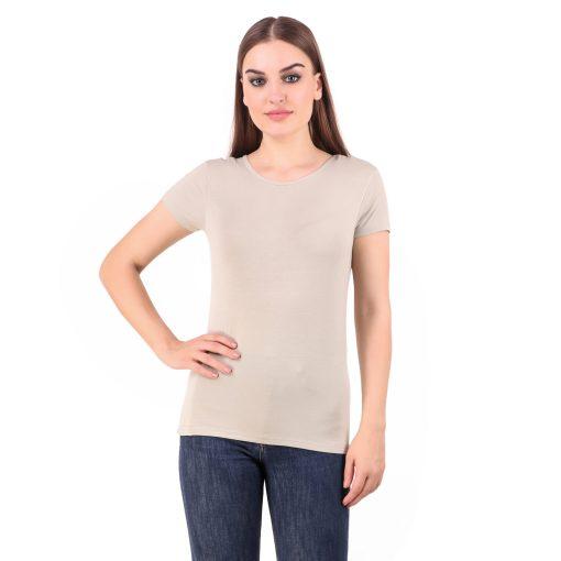 Naturefab Womens Sustainable Bamboo Fashion T Shirt Musk Grey 1