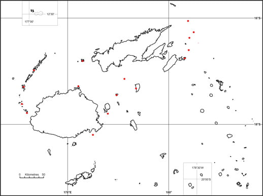 Hawksbill turtle - Eretmochelys imbricata map