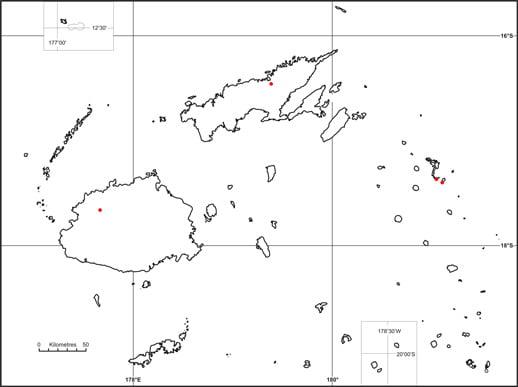 Cibicibi (Cynometra falcata) map