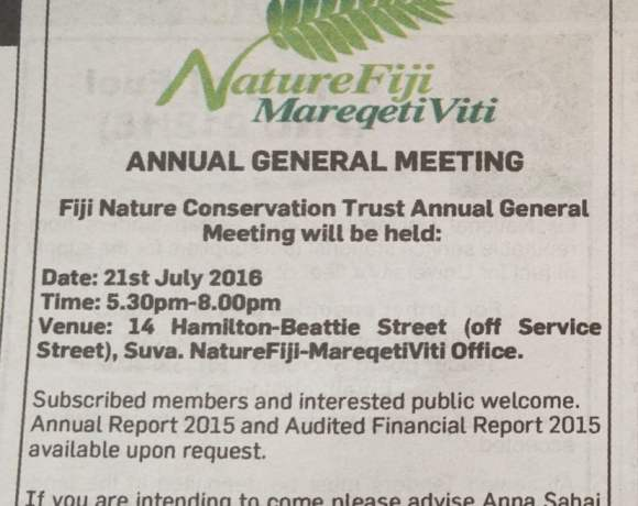 NatureFiji - MareqetiViti Annual General Meeting 2016