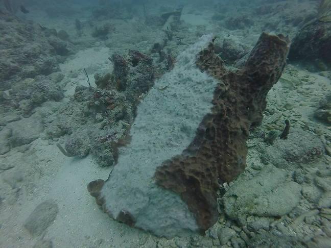 Hurricane damage on sea floor