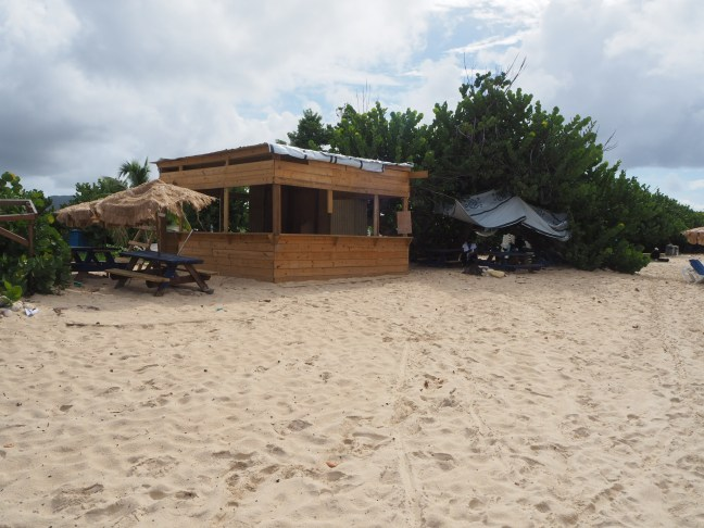 food stand on beach