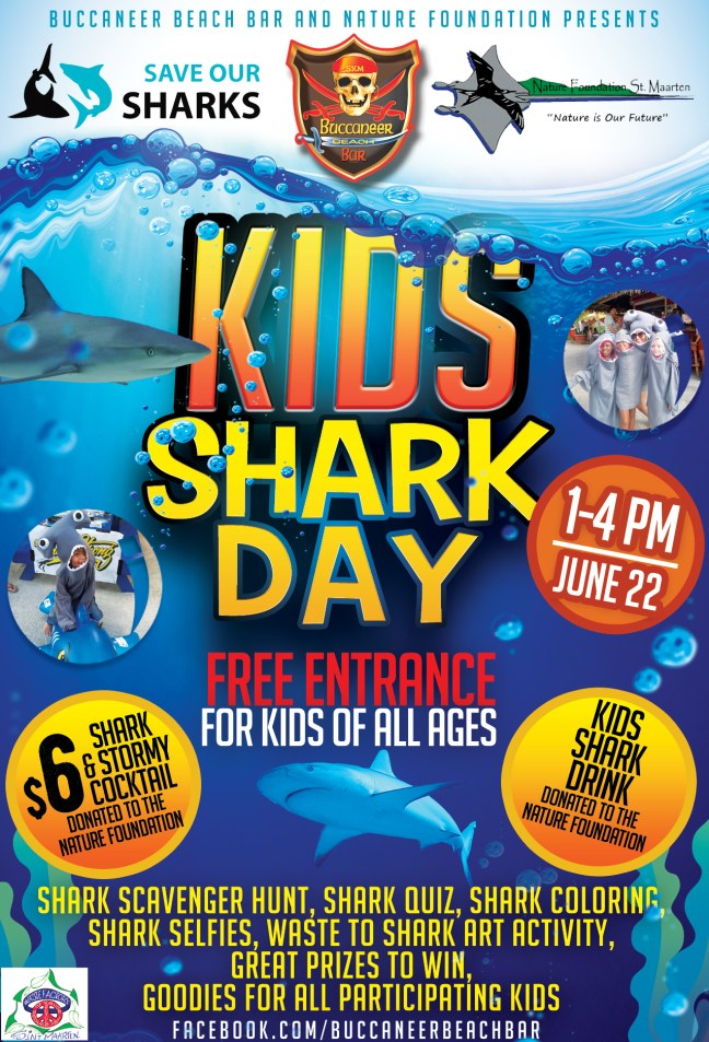 Kids Shark Day Poster