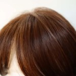 80代女性オーダーメイドウィッグ・ボブヘア横から見たツヤ&カラー