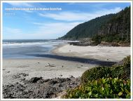 General view looking north at Neptune State Park, Oregon, USA.