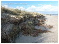 Storm damage to sand dunes