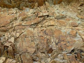 Silurian rocks at Ferriters Cove