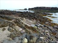 Devonian domed sandstone strata on the beach at Fermoyle
