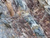 Sedimentary strata from the Carboniferous Cumberland Group at Spencer's Island in Nova Scotia, Canada.