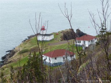The lighthouse, restaurant, and accommodation at Cap d'Or in Nova Scotia.