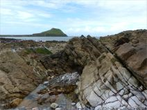 View from the causeway towards Worms Head