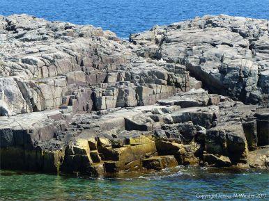 Precambrian volcanic rocks at Morning Star Cove