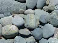 Beach stones the size of cobbles at Morning Star Cove