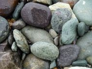 Beach stones of volcanic rock at Fourchu Head