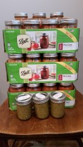 Tomato and Tomatillo Sauce in Ball Jars