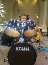 vincent on drums