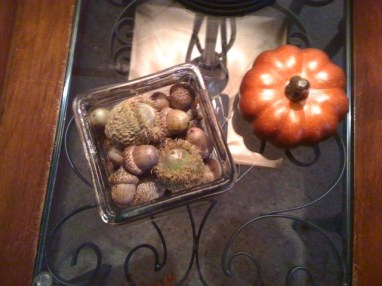 Fall Decor with Varied-Sized Acorns
