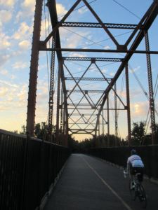 sunrise, morning, cross, attention, observation, Fair Oaks Bridge