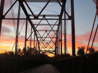 fishermen, Fair Oaks Bridge, sunrise, morning, walk,