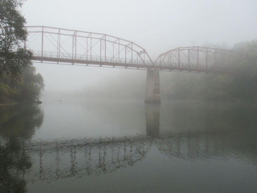 morning fog, fair oaks bridge, fog